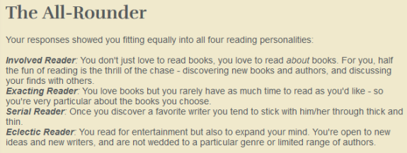 Reading personality