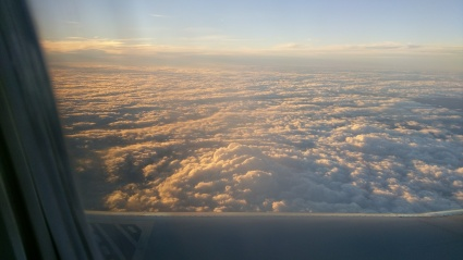 Flying--clouds